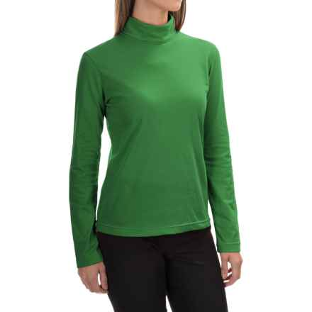 Neon Buddha Turtleneck - Stretch Cotton, Long Sleeve (For Women) in Travel Green - Closeouts