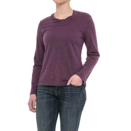 Neon Buddha Twist Neck Shirt - Cotton Slub, Long Sleeve (For Women) in Aurora Purple - Closeouts