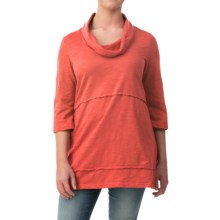Neon Buddha Under the Sun Tunic Shirt - Cowl Neck, 3/4 Sleeve (For Women) in Coral - Closeouts