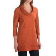 Neon Buddha Under the Sun Tunic Shirt - Cowl Neck, 3/4 Sleeve (For Women) in Eco Orange - Closeouts