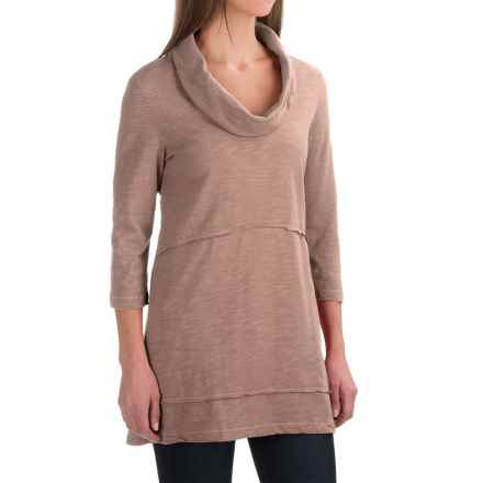 Neon Buddha Under the Sun Tunic Shirt - Cowl Neck, 3/4 Sleeve (For Women) in Muddled Pink - Closeouts