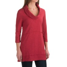 Neon Buddha Under the Sun Tunic Shirt - Cowl Neck, 3/4 Sleeve (For Women) in Red Current - Closeouts