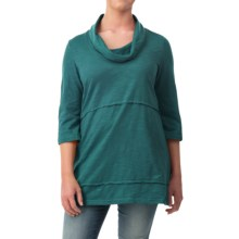 Neon Buddha Under the Sun Tunic Shirt - Cowl Neck, 3/4 Sleeve (For Women) in Teal - Closeouts