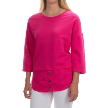 Neon Buddha Valley Fooler Tunic Shirt - Stretch Cotton, 3/4 Sleeve (For Women) in China Cat Pink - Closeouts