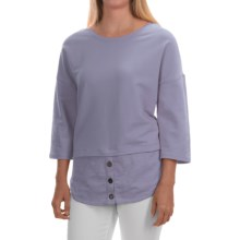 Neon Buddha Valley Fooler Tunic Shirt - Stretch Cotton, 3/4 Sleeve (For Women) in Lavender - Closeouts