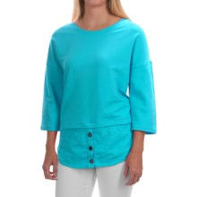 Neon Buddha Valley Fooler Tunic Shirt - Stretch Cotton, 3/4 Sleeve (For Women) in Valley Turquoise - Closeouts