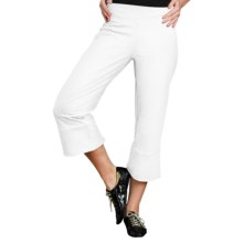 Neon Buddha Vented Capris - Stretch Cotton Jersey (For Women) in White - Closeouts