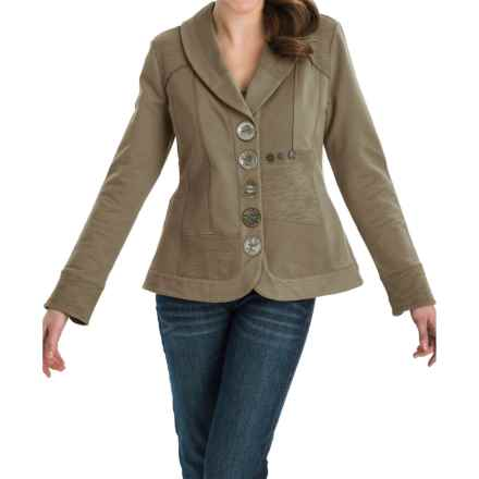 Neon Buddha Zesty Jacket - Stretch Cotton, Button Up (For Women) in Reclaimed Earth - Closeouts