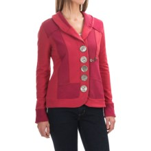 Neon Buddha Zesty Jacket - Stretch Cotton, Button Up (For Women) in Save The Planet Red - Closeouts
