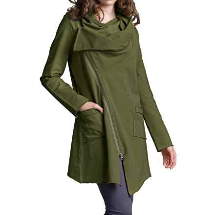 Neon Buddha Zip Car Jacket (For Women) in Earthly Green - Closeouts
