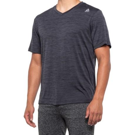 Neptune T-Shirt - V-Neck, Short Sleeve (For Men) - BLACK HEATHER (XL )