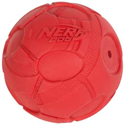 "Nerf Dog Bash Squeak Ball Dog Toy - 3.8"" in Red - Closeouts"