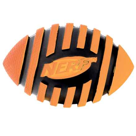 Nerf Dog Spiral Squeaker Football in Orange/Black - Closeouts
