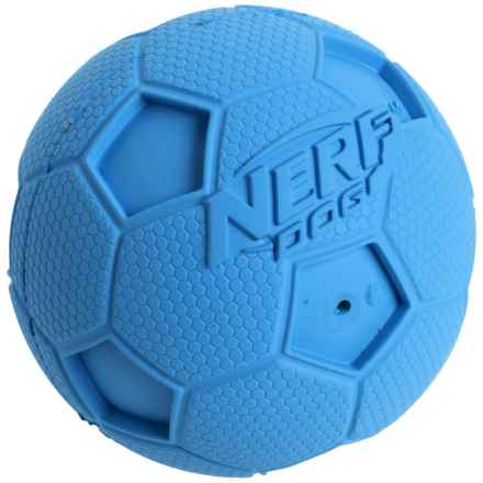 Nerf Dog Squeaky Soccer Ball Dog Toy - Medium in Blue - Closeouts