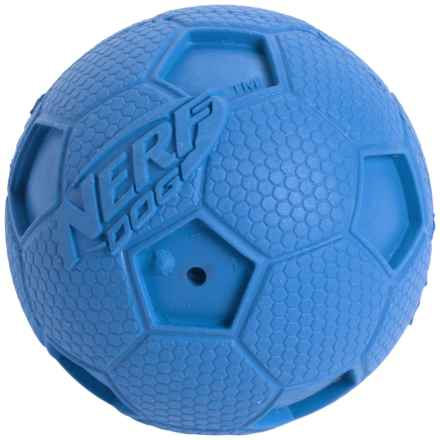 Nerf Dog Squeaky Soccer Ball Dog Toy - Small in Blue - Closeouts