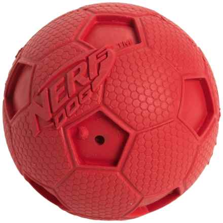 Nerf Dog Squeaky Soccer Ball Dog Toy - Small in Red - Closeouts