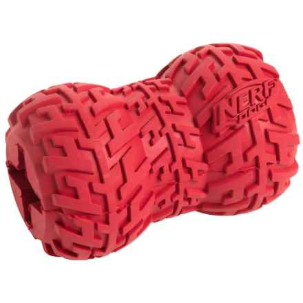 Nerf Dog Tire Treat Feeder Dog Toy - Medium in Red - Closeouts