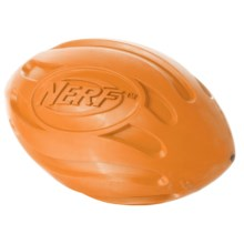 """Nerf Dog Wave Squeaker Football Dog Toy - 5.5"""" in Orange - Closeouts"""