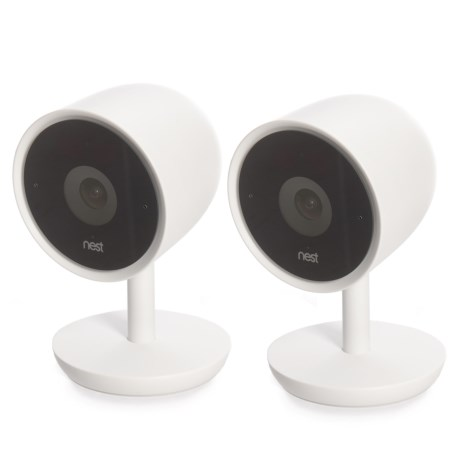 Nest Cam IQ Indoor Smart Home Security Cameras - 2-Pack in See Photo