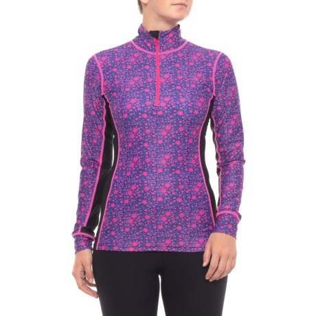 Nevada Base Layer Top – Zip Neck, Long Sleeve (For Women)