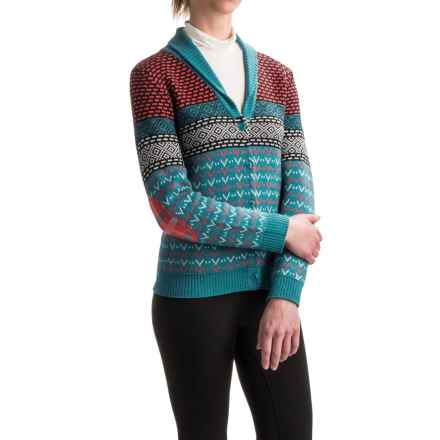 Neve Addison Cardigan Sweater - Merino Wool, Shawl Collar (For Women) in Multi - Closeouts