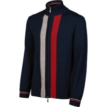 Neve Aiden Cardigan Sweater - Merino Wool, Full Zip (For Men) in Navy - Closeouts