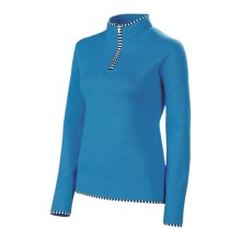 Neve Annabelle Cotton-Wool Sweater - Mock Zip (For Women) in Glacier - Closeouts