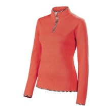 Neve Annabelle Cotton-Wool Sweater - Mock Zip (For Women) in Spice - Closeouts