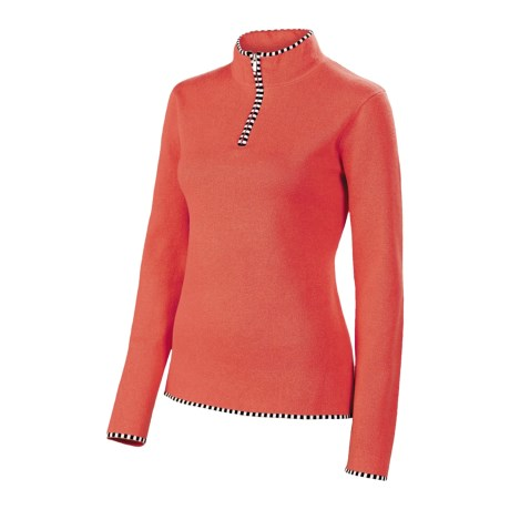 Neve Annabelle Cotton-Wool Sweater - Mock Zip (For Women) in Spice