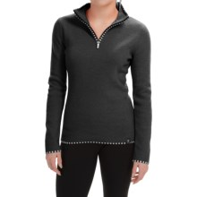 Neve Annabelle Sweater - Merino Wool, Zip Neck (For Women) in Black - Closeouts