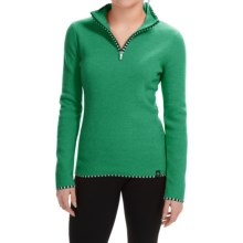 Neve Annabelle Sweater - Merino Wool, Zip Neck (For Women) in Verde - Closeouts