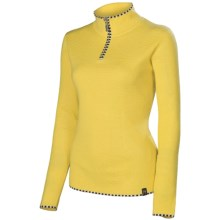Neve Annabelle Sweater - Zip Neck, Long Sleeve (For Women) in Canary - Closeouts