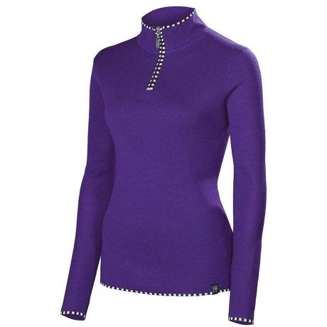 Neve Annabelle Sweater - Zip Neck, Long Sleeve (For Women) in Purple