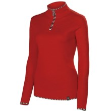 Neve Annabelle Sweater - Zip Neck, Long Sleeve (For Women) in Red - Closeouts
