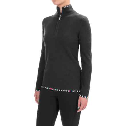 Neve Anne Multicolor-Trim Sweater - Merino Wool (For Women) in Black - Closeouts