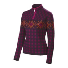 Neve Annika Sweater - Merino Wool, Zip Neck (For Women) in Grape - Closeouts