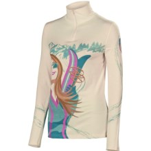 Neve Apres Girl Base Layer Top - Silk-Merino Wool, Zip Neck, Long Sleeve (For Women) in Apres Girl - Closeouts