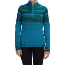 Neve Ashley Sweater - Merino Wool, Zip Neck (For Women) in Aquamarine - Closeouts
