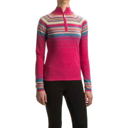 Neve Ashley Sweater - Merino Wool, Zip Neck (For Women) in Blossom - Closeouts