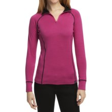 Neve Bivi Base Layer Top - Zip Neck, Long Sleeve (For Women) in Pink - Closeouts