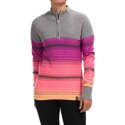 Neve Brandi Wool Sweater - Zip Neck (For Women) in Blossom - Closeouts