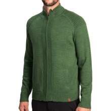 Neve Brent Sweater - Merino Wool, Full Zip (For Men) in Evergreen - Closeouts