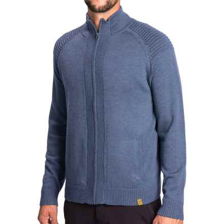 Neve Brent Sweater - Merino Wool, Full Zip (For Men) in Midnight - Closeouts
