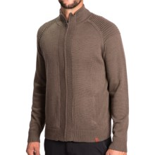 Neve Brent Sweater - Merino Wool, Full Zip (For Men) in Taupe - Closeouts