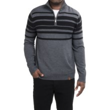 Neve Brodie Sweater - Merino Wool, Zip Neck (For Men) in Charcoal - Closeouts