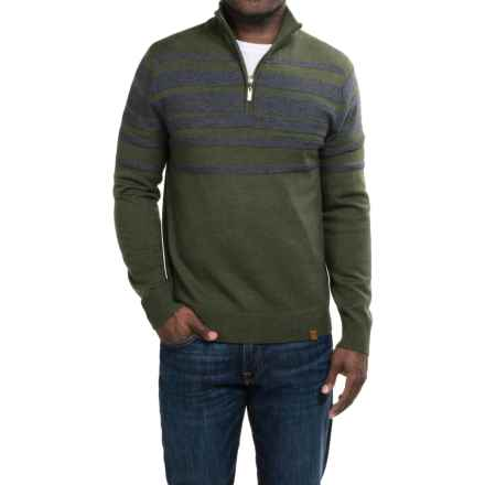 Neve Brodie Sweater - Merino Wool, Zip Neck (For Men) in Olive - Closeouts
