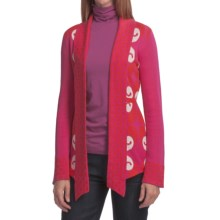 Neve Carla Ikat Cardigan - Combed Cotton (For Women) in Pink - Closeouts