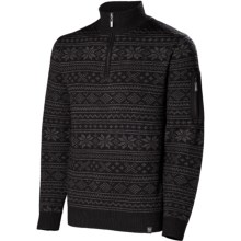 Neve Carson Sweater - Merino Wool, Zip Neck (For Men) in Black - Closeouts