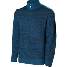 Neve Carson Sweater - Merino Wool, Zip Neck (For Men) in Blue Spruce - Closeouts