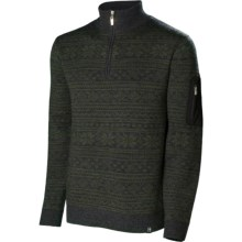 Neve Carson Sweater - Merino Wool, Zip Neck (For Men) in Olive - Closeouts